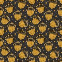 glands dorés. fond de texture transparente motif. la nature de la forêt végétale. vecteur