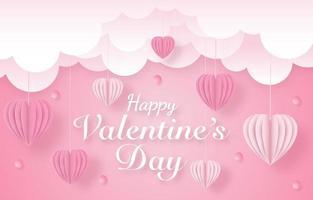 bannière de célébration de la saint valentin vecteur