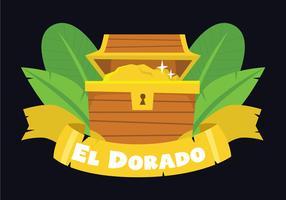 Boîte aux trésors d'El Dorado vecteur
