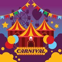 Illustration d'affiche de carnaval vecteur