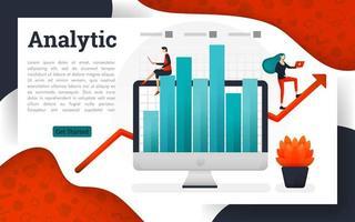 solution de recherche de gestion d'entreprise d'analyse vecteur