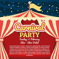 Affiche de carnaval vecteur