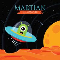 Illustration martienne vecteur