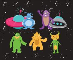 Vecteur de monstres intergalactiques