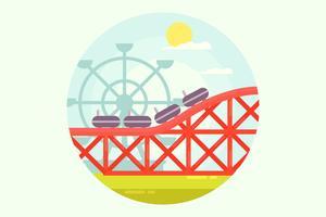 Vecteur de Rollercoaster