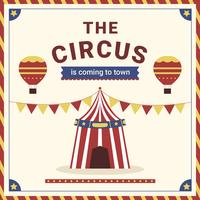 Affiche festive de carnaval de cirque vecteur