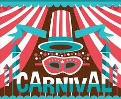 Vecteur d'élément d'affiche de carnaval