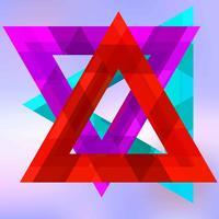 Arrière-plan de triangles abstraits vecteur