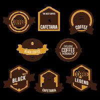 Badge de café vecteur