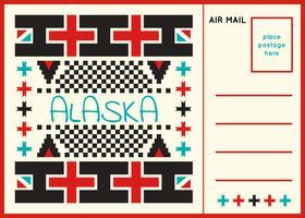 Carte postale unique des vecteurs de l'Alaska