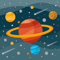 Planète Saturne Vector