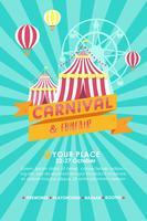 Vecteur d'affiche de carnaval