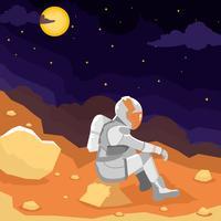 Mission d'exploration de Mars vecteur