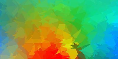 modèle de triangle abstrait vecteur multicolore clair.