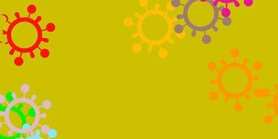 modèle de vecteur multicolore clair avec des signes de grippe