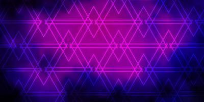 fond de vecteur rose foncé, bleu avec des lignes, des triangles.