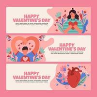 thème de la saint-valentin avec amour et coeur réaliste vecteur