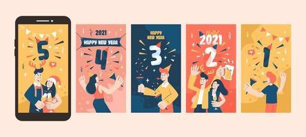 bannière de compte à rebours du nouvel an vecteur