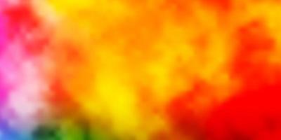 modèle de vecteur multicolore clair avec ciel, nuages.
