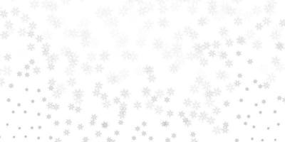 mise en page abstraite de vecteur gris clair avec des feuilles.