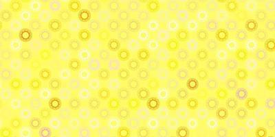 modèle vectoriel rose clair et jaune avec des signes de grippe.