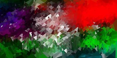 modèle de triangle abstrait vecteur multicolore sombre.