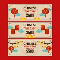 divers environnements de nouvel an chinois vecteur