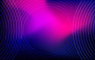 fond de néon ondulé dégradé bleu violet vecteur