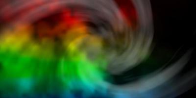toile de fond de vecteur multicolore sombre avec cumulus.