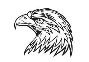 Vecteur tête d'aigle
