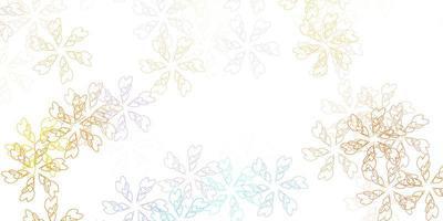 illustration abstraite de vecteur bleu clair, jaune avec des feuilles.