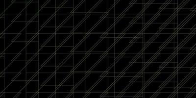 texture de vecteur vert foncé, jaune avec des lignes.