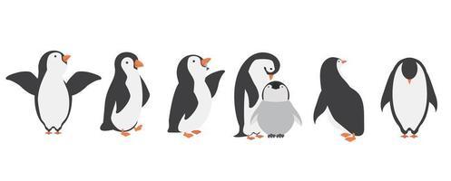 jeu de caractères pingouin