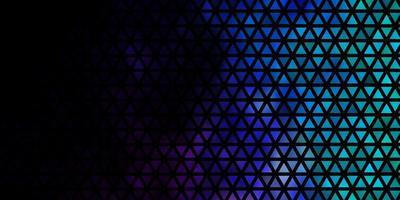 fond de vecteur rose foncé, bleu avec des triangles.