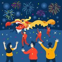 fête du nouvel an chinois vecteur