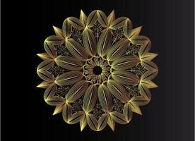 fond de mandala art ligne or de luxe