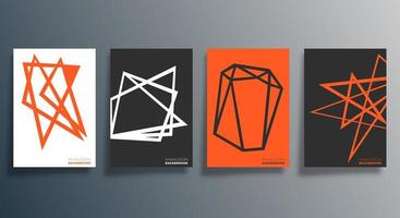 conception géométrique minimale pour flyer, affiche, couverture de brochure, arrière-plan, papier peint, typographie ou autres produits d'impression. illustration vectorielle