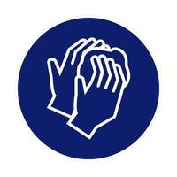 laver les mains avec l'icône de style de bloc de mousse