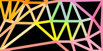 modèle de triangle poly vecteur vert clair, rouge.