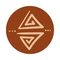triangles boho style de dessin à la main
