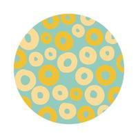 style de bloc de motif organique de cercles
