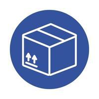 style de bloc de service de livraison de boîte