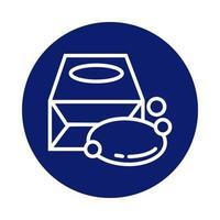 barre de savon en icône de style de bloc de boîte