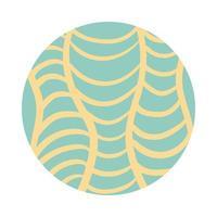 style de bloc de motif organique net