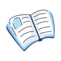 icône de style de dessin de main de livre de texte