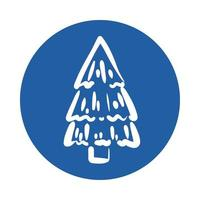 icône de style de bloc de plante de pin