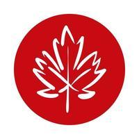 feuille d'érable style bloc canadien