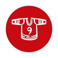 icône de style de bloc de chemise de sport de hockey