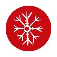 icône de style de bloc de glace flocon de neige