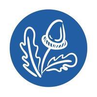 icône de style de bloc de graines d'érable
